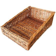 Woven Wicker Cane Bamboo Basket Breakfast Fruit Bread Roll Storage Display Tray