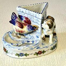 🚶 pyrogène porcelaine allemande Conta & bohème coq & chien (Poessneck) Thuringe