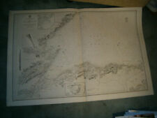 Vintage Admiralty Chart 1823 SCOTLAND - BANFF to DUNBEATH HARBOUR 1847 edn