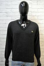 Lacoste Uomo Taglia 4 M Maglione Uomo Cardigan Pullover Sweater Lana Grigio Man