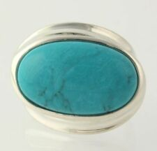 NEW Dyed Howlite Ring - 925 Sterling Silver Women's Size 5.75
