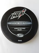 ABBOTSFORD HEAT AHL SHER-WOOD MADE IN CANADA HOCKEY OFFICIAL GAME PUCK