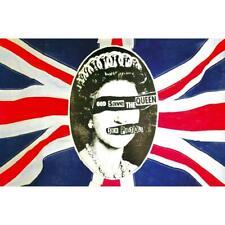 More details for official licensed - sex pistols - god save the queen textile poster flag punk