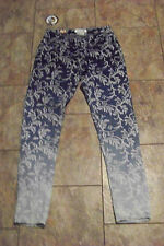 new womens free culture multi wash printed skinny denim jeans size 1 24 x 27.5