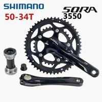Shimano Sora FC-3550 9 Speed Double Crankset 34-50T Road Bike Chainset 170mm