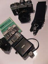 Gerät-Alte Revue Flex EM Spiegelreflex Kamera mit Zubehör-Bedienungsanleitung