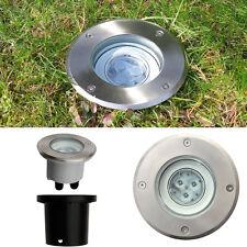 LED Bodeneinbaustrahler rund 3 watt 230v schwenkbar Außenleuchte Wegbeleuchtung