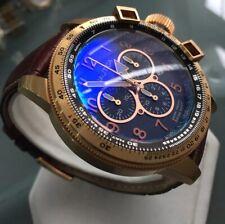 Mens Genuine Nautica BFC Chronograph Designer Watch swiss divers Large Rose Gold