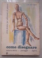 COME DISEGNARE NATURA MORTA PAESAGGIO FIGURA DILETTANTI DI PITTURA 1970 NICODEMI