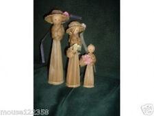 Lot of 3 dolls Corn Husk or shuck straw dolls