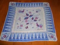 Vintage Tammis Keefe Roosters Hanky Handkerchief Hankies