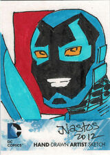 DC Comics New 52 Sketch Card by Mat Nastos of Blue Beetle