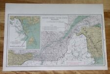 1915 MAP OF QUEBEC USA BOUNDARY DISPUTE EASTERN TOWNSHIP MAINE BAY FUNDY CANADA