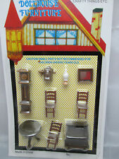 "1/4"" / 1/48th / O  Scale  Plastic Old Style Dining Room Furniture Set"