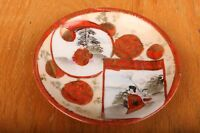 Vintage Japanese Saucer Red and White