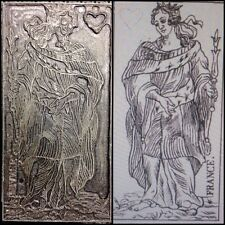 Artisan Engraved Queen of Hearts / France Antique Playing Cards Printing Block