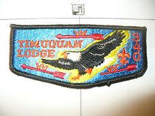 OA 340 Timuquan S8a,1980s,ORD,Eagle,BLK Bdr,Flap,West Central Florida Council,FL