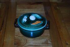 Tellurite Belgium Majolica Lidded Vegetable bowl/Casserole