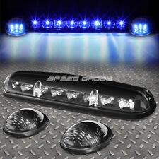 FOR 02-07 SILVERADO/SIERRA 3PCS BLACK HOUSING BLUE LED CAB ROOF RUNNING LIGHT