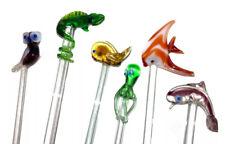 New Listing�� Vintage Blown Glass Swizzle Stick Stir Cocktail Stirrer Beach Nautical �