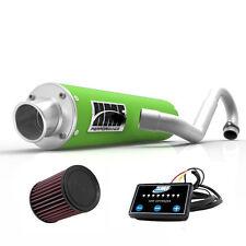 HMF Performance Full Exhaust System Pipe Muffler Green EFI Optimizer K&N LTZ 400