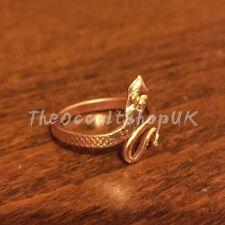 3 x Copper Snake Ring Adjustable Chakra Yoga Naga Puja Karma Celtic Gothic Wicca