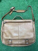 Wilsons Brown Leather Computer Bag Messenger Shoulder Genuine Soft