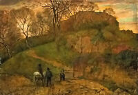 Art Oil painting Hans Thoma - Landschaft bei Viterbo landscape in viterbo canvas