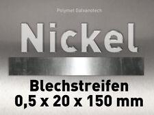 Nickel Blechstreifen Nickelblech 0,5 x 20 x 150 mm rein Ni 99,8% Anode Elektrode
