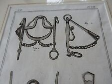 HORSE EQUESTRIAN BITS BRIDLE   amazing mounted 1700s engravings GIFT POTENTIAL b