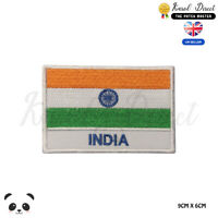 INDIA National Flag With Name Embroidered Iron On Sew On Patch Badge