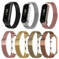 For Xiaomi Mi Band 3 Smart Wristband Bracelet Milanese Magnetic Watch Band Strap