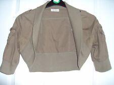 Khaki 3/4 Sleeve Shrug Size 10