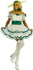 Fun World Women's Sexy White Green Southern Belle Antebellum Costume S/M 2-8