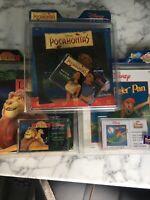 DISNEY READ ALONGS x3 PETER PAN, POCAHONTAS, THE LION KING vintage CASSETTE TAPE