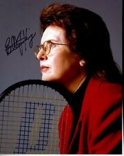 BILLIE JEAN KING Signed Autographed TENNIS Photo