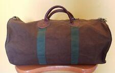 Vintage L.L. Bean Brown Duffle Bag Canvas Leather