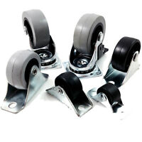 40mm FIXED WHEEL BLACK NYLON CASTORS 66 x 25 PLATE 40mm x 17mm WHEEL