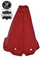 RED LEATHER GEAR GAITER FITS PEUGEOT 306 HATCHBACK ESTATE CABRIO CONVERTIBLE
