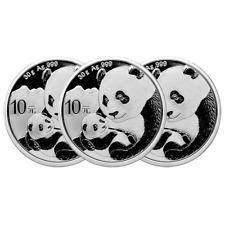 Lot of 3 - 2019 10 Yuan Silver Chinese Panda .999 30g BU In Cap