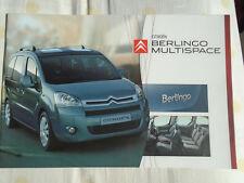 Citroen Berlingo Multispace range brochure Oct 2008