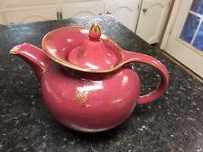 HALL TEA POT BURGANDY WINDSHEILD ROSE GOLD FLORAL