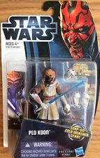 Star Wars 2011 The Clone Wars PLO KOON CW6 Jedi Hasbro Figure NEW