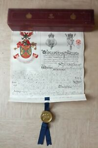 ER VII Ulster Grant Of Arms Scroll James Bankhead Browne Banbridge Co Down 1905.