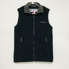 Columbia Titanium Tech Interchange Mens Small Full Zip Fleece Vest Black Gray