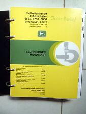 John Deere  Feldhäcksler  6650 - 6750 - 6850 -  6950  Werkstatthandbuch Teil  1
