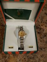 GENEVA ladies watch  iced out bling gold Silver stainless quartz