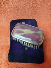 More details for antique sterling silver hallmarked cased purple & yellow small brush 1928 w f h