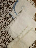 4 Beautiful Vintage Antique Linen Runners Table Toppers