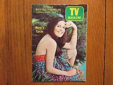 June 13, 1971 Boston Sunday Herald Traveler TV Mag(LUCIE ARNAZ/MICHAEL GOODLIFFE